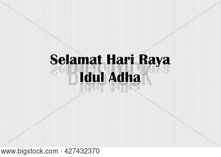 Eid Mubarak Indonesian's Text Translated. Eid Mubarak Indonesian Character.