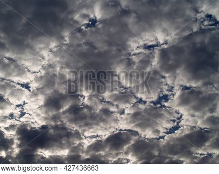 Darkness Rain Clouds Before The Rain, Close Up Dark Gray Cloudy On Dramatic Moody Sky, Nature Abstra