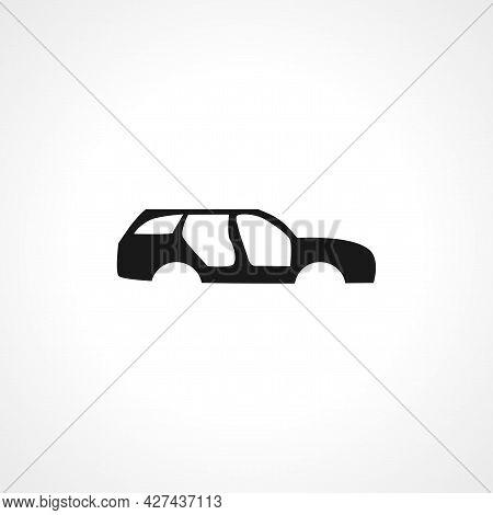 Car Body Icon. Car Body Isolated Simple Vector Icon.