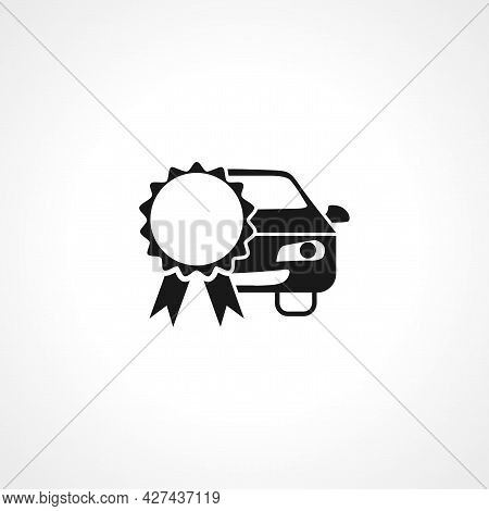 Car Service Certificate Icon. Car Service Certificate Isolated Simple Vector Icon.