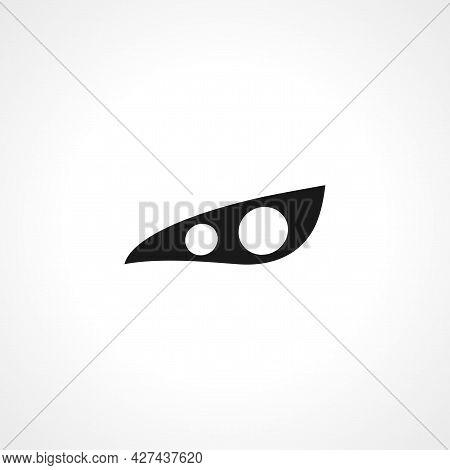 Car Headlight Icon. Car Headlight Isolated Simple Vector Icon.