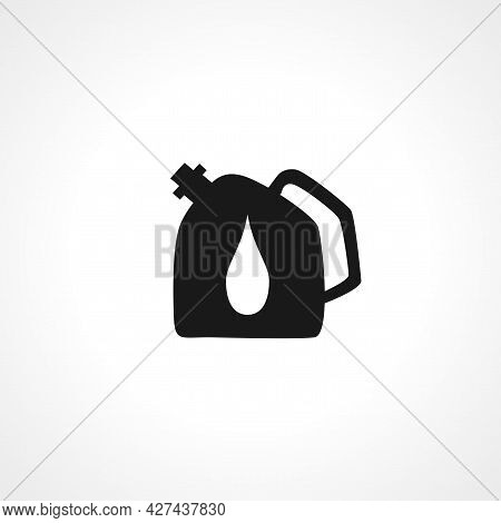 Oil Jerry Can Icon. Oil Container Isolated Simple Vector Icon.