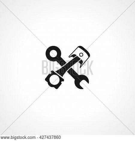 Car Piston Repair Icon. Car Piston Repair Isolated Simple Vector Icon.