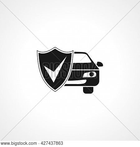 Car Protection Icon. Car Protection Isolated Simple Vector Icon.