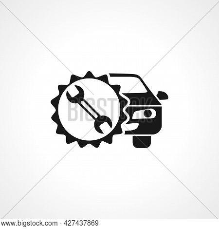 Car Repair Icon. Car Repair Isolated Simple Vector Icon. Maintenance Icon.
