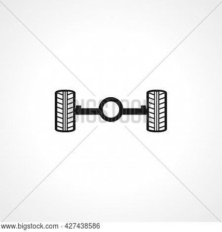 Car Chassis Icon. Car Chassis Isolated Simple Vector Icon.