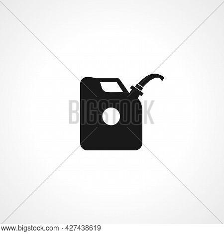 Canister Of Gasoline Icon. Canister Of Gasoline Isolated Simple Vector Icon.