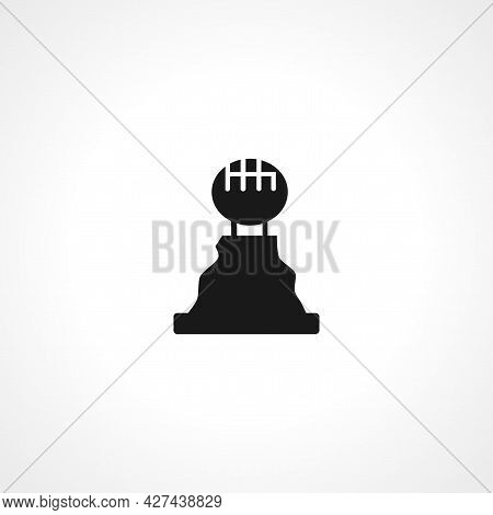 Manual Gear Stick Icon. Manual Gear Stick Isolated Simple Vector Icon.