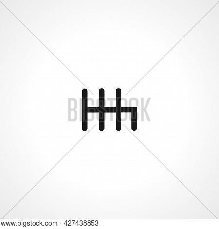 Gear Shifter Icon. Transmission Isolated Simple Vector Icon.