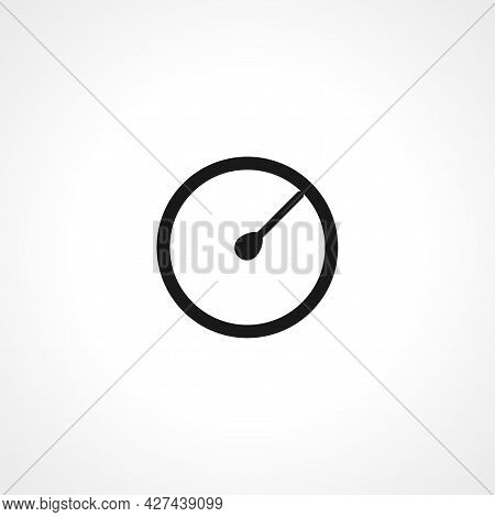 Speedometr Icon. Speedometr Tachometer Isolated Simple Vector Icon. Car Dashboard Icon.