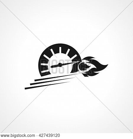 Speedometer Icon. Speedometer Isolated Simple Vector Icon. Car Dashboard Icon.