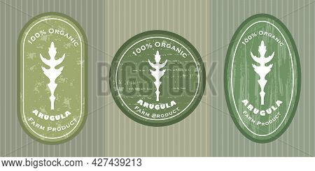 Three Logo Patches With Arugula And Texture