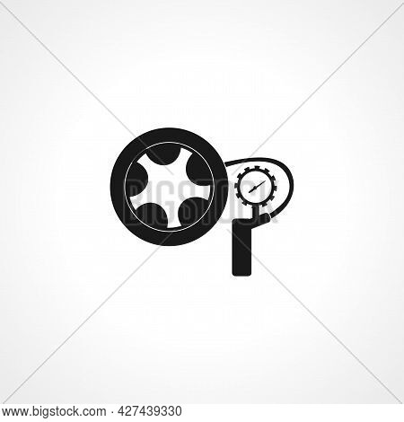 Inflate Tire Icon. Inflate Tire Isolated Simple Vector Icon. Tire Inflation Icon,
