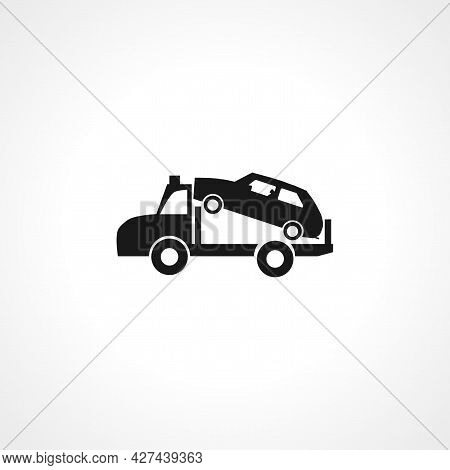 Tow Truck Icon. Tow Truck Isolated Simple Vector Icon.