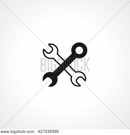 Crossed Wrenches Icon. Wrench Isolated Simple Vector Icon. Service Icon. Maintenance Icon.