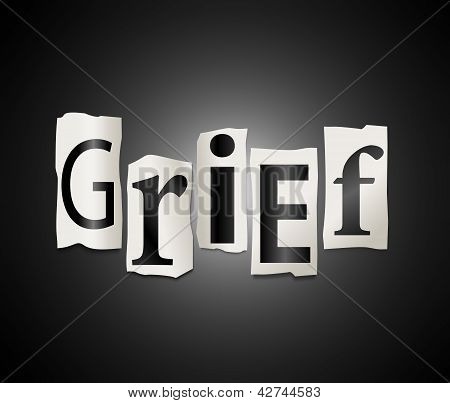 Grief Concept.