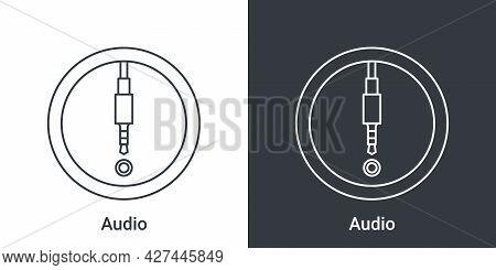 Audio Jack Port Icon. Computer Connectors Signs. Connectors Icon. Vector Illustration