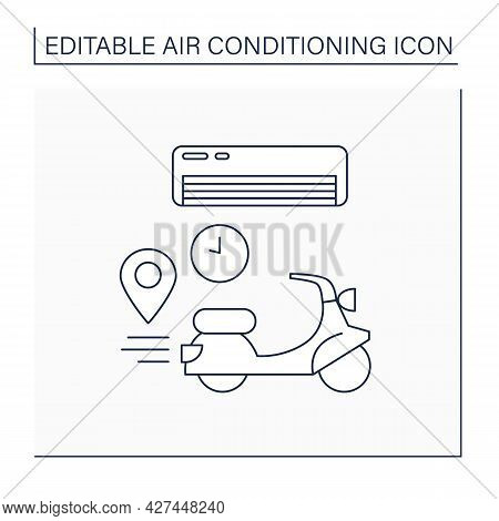 Delivery Line Con. Fast Delivery For Different Location Conditioner. Ventilation In Hot Weather.air