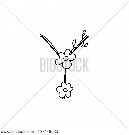 Vintage Floral Bold Letter Y Logo Spring. Classic Summer Letter Design Vectors With Black Color And