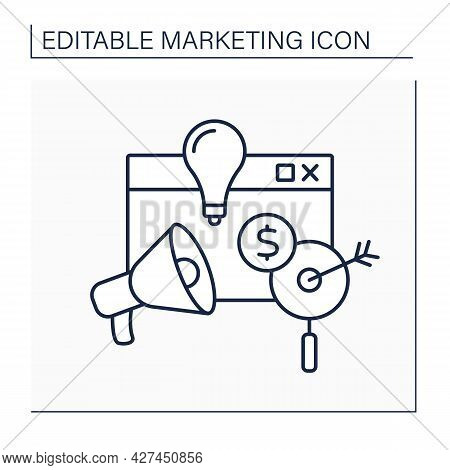 Marketing Mix Line Icon.factors Controlled By Company To Influence Consumers To Purchase Products.pr