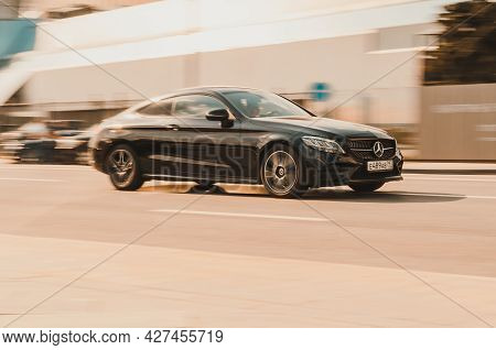 Moscow , Russia - May, 2021: Mercedes Benz Coupe C205 2016 Model. It Is A Line Of Compact Executive