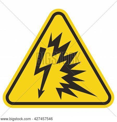 Warning Sign Arc Flash Symbol On White Background