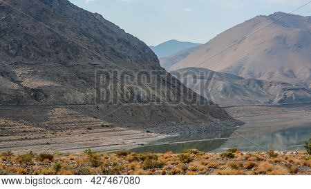 Beautiful Mirror Image Of Walker Lake. It Is Part Of The Walker River Basin, Mineral County, Nevada