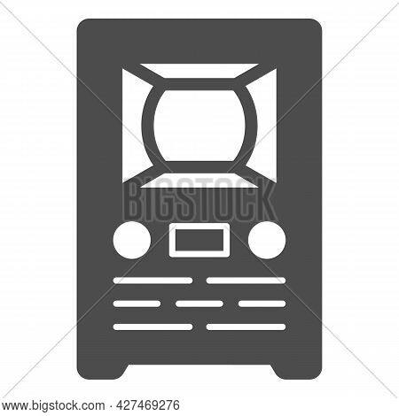 Retro Tv Solid Icon, Monitors And Tv Concept, Old Vintage Tv Vector Sign On White Background, Glyph