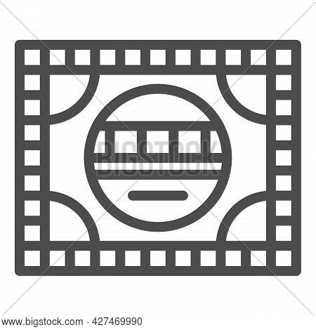 Setting Table Line Icon, Monitors And Tv Concept, Electronic Configuration Vector Sign On White Back