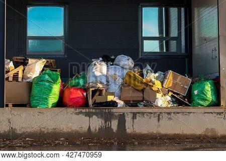 Garbage Removal - Overflowing Plastic Waste Bags, Pile Of Junk