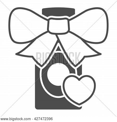 Perfume Gift For Loved One Solid Icon, 8 March Concept, Gift For Woman Sign On White Background, Per