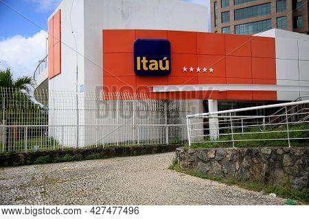 Facade Of An Itau Bank Branch