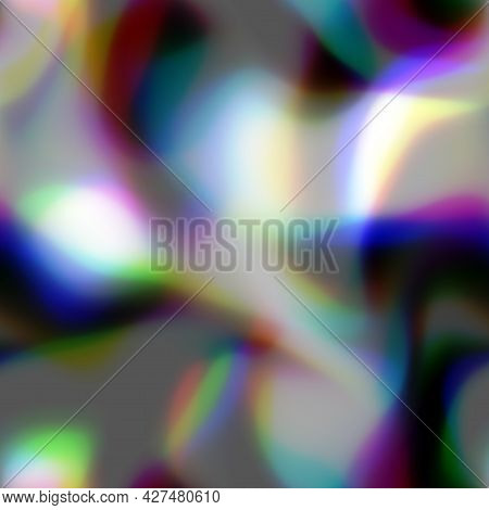 Blurred Solarized Ombre Seamless Texture. Trendy Soft Multicolor Digital Lens Flare Gradient Style.