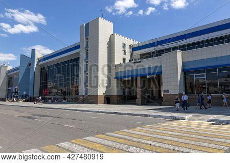 Belgorod, Russia - July 08, 2021: View Of Belgorod City Railway Station
