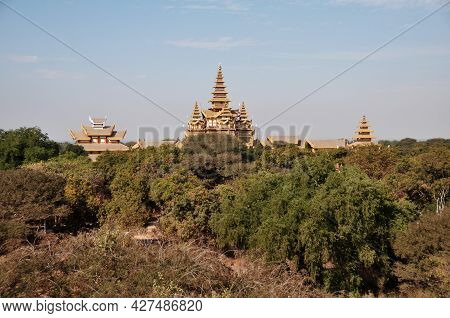 View Landscape Ruins Cityscape Unesco World Heritage Site With Over 2000 Pagodas Temples For Burmese