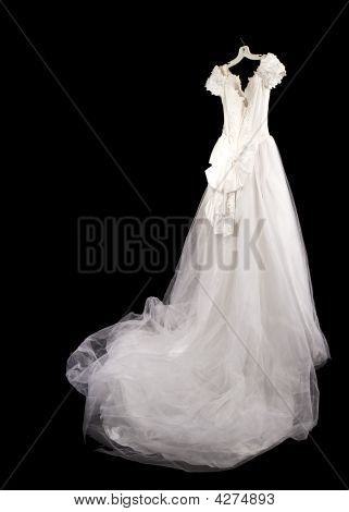 Hanging Bride's Dress