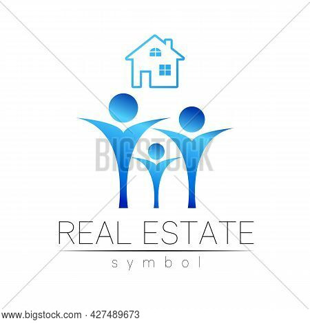 Real Estate Logo Design In Vector With Branding Elements For Real Estateproperty Industry House Symb