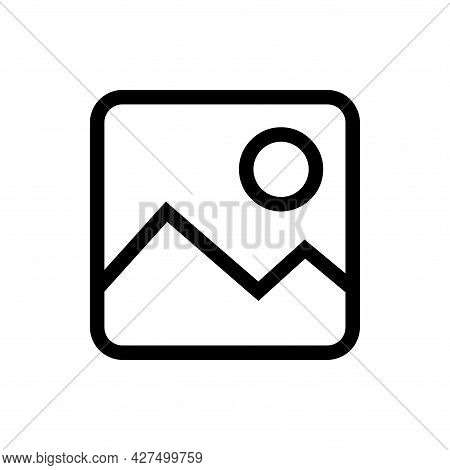 Gallery Line Icon. Gallery Icon Vector Isolated On White Background. Gallery Icon Vector Illustratio