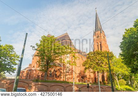Gorlitz, Germany - June 2, 2021: The Cathedral Of St. James Is The Cathedral Of The Silesian And Bra