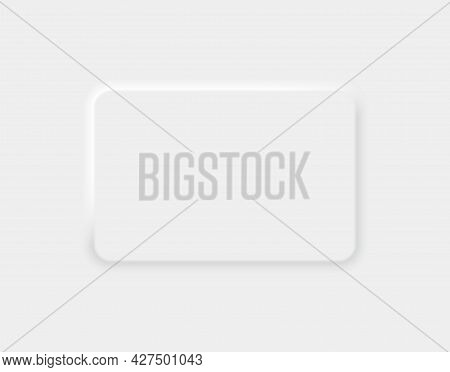 Vector Rectangle Format White Paper With Shadow On Grey Background. Empty Sheet Of Paper Template Po