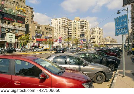 Cairo-egypt - October 1, 2020: View Of Nasr City Cairo Old Residential District With Many Buildings