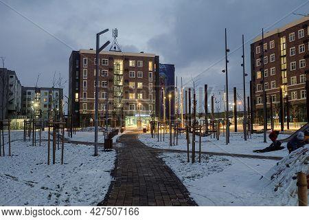 Belgorod, Russia - November 17, 2020: Southwestern Residential Area Of Belgorod. Novaya Zhizn (new L
