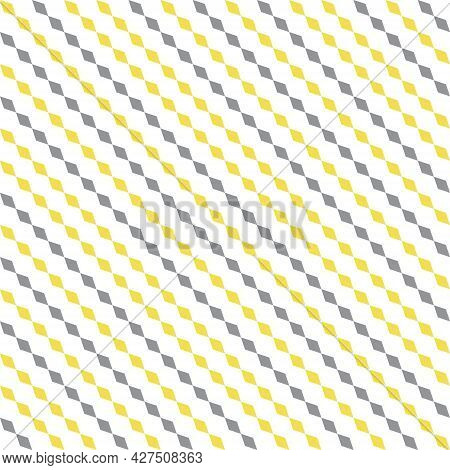 Colors Of Year 2021 Illuminating Yellow And Ultimate Gray Simple Striped Pattern. Abstract Geometric