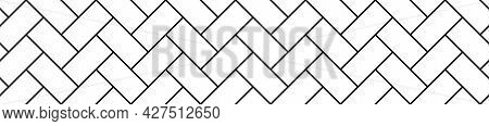 Checkered Tile Diagonal Seamless Rectangle Texture, Vector Graphic Pattern Decoration Background Ill