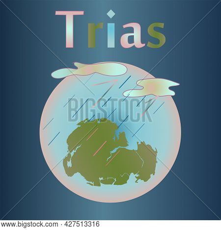 The Triassic In The History Of The Earth. Acid Rain. Clouds.