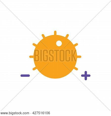 Volume Knob Vector Flat Glyph Icon. Music Sign. Graph Symbol For Music And Sound Web Site And Apps D