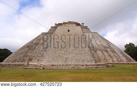 Maya Ruins Of Uxmal Temple, Yucatan, Mexico
