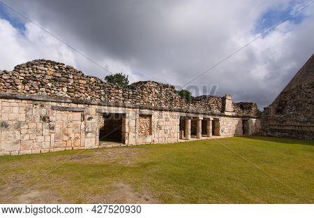 Uxmal, Yucatan, Mexico, December 12, 2011 : Ruins Of Maya Temple In Uxmal, Yucatan, Mexico, December