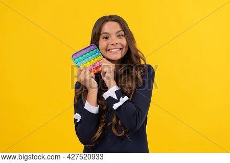 Happy Kid Hold Popit Silicone Sensory Fidget Game, Popit