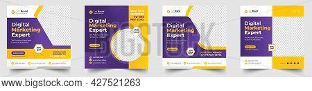 Digital Marketing Social Media Post Banner Template, Social Media Post Banner Design Template. Busin